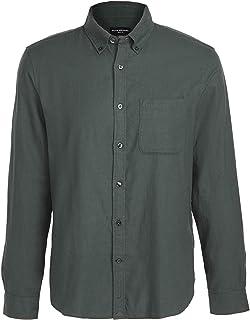Club Monaco Men's Long Sleeve Brushed Flannel Shirt