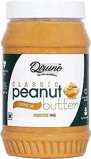 Diruno Classic Peanut Butter Crunchy 1kg (No Vegan, High Protein,No Stir)