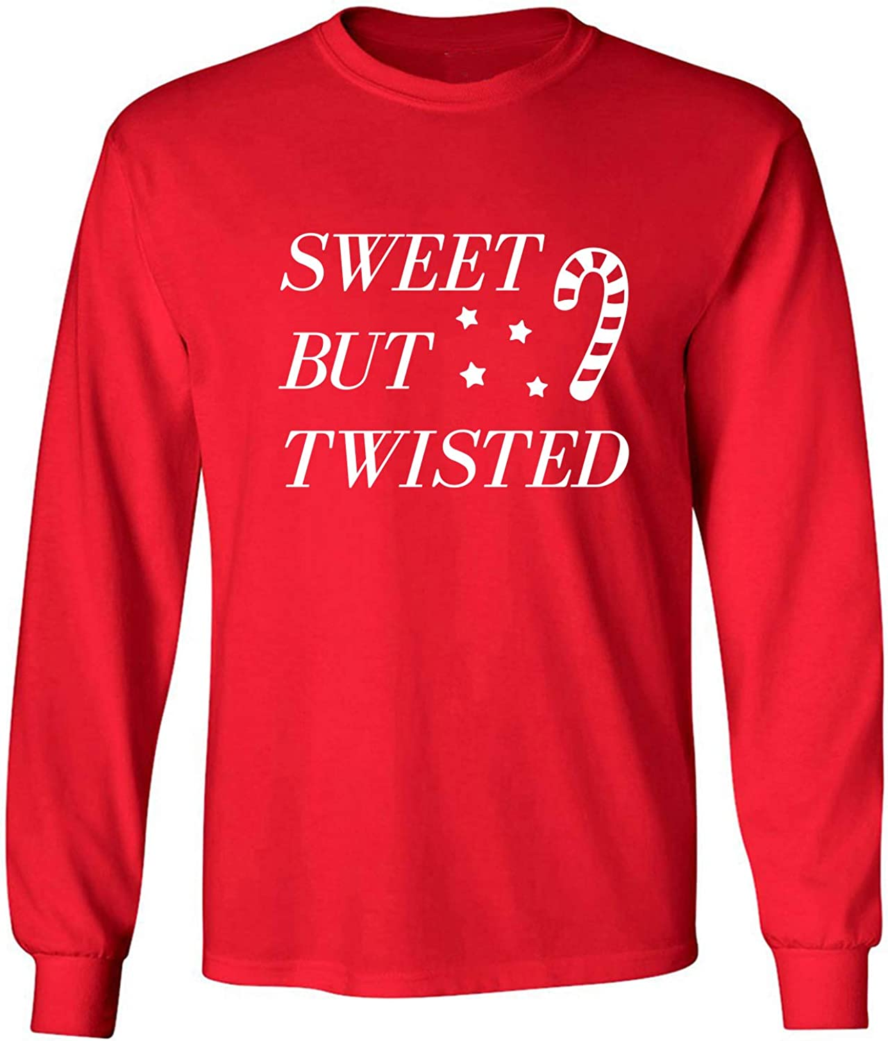 Sweet But Twisted Adult Long Sleeve T-Shirt in Red - XXX-Large