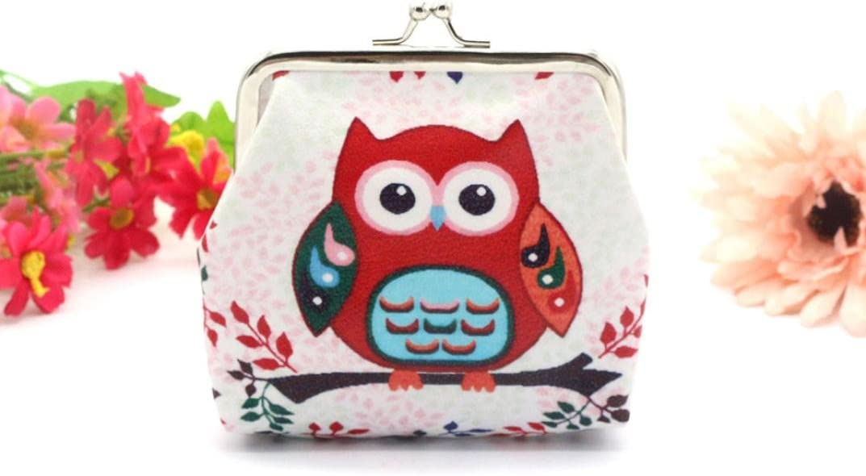 GBSELL Womens Owl Elephant Wallet Card Holder Coin Purse Clutch Handbag