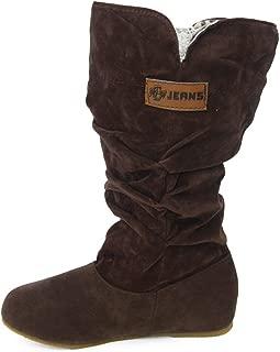 Edel Damen Faux-Wildleder Overkneestiefel Bequem Runde Flach Winter Boots