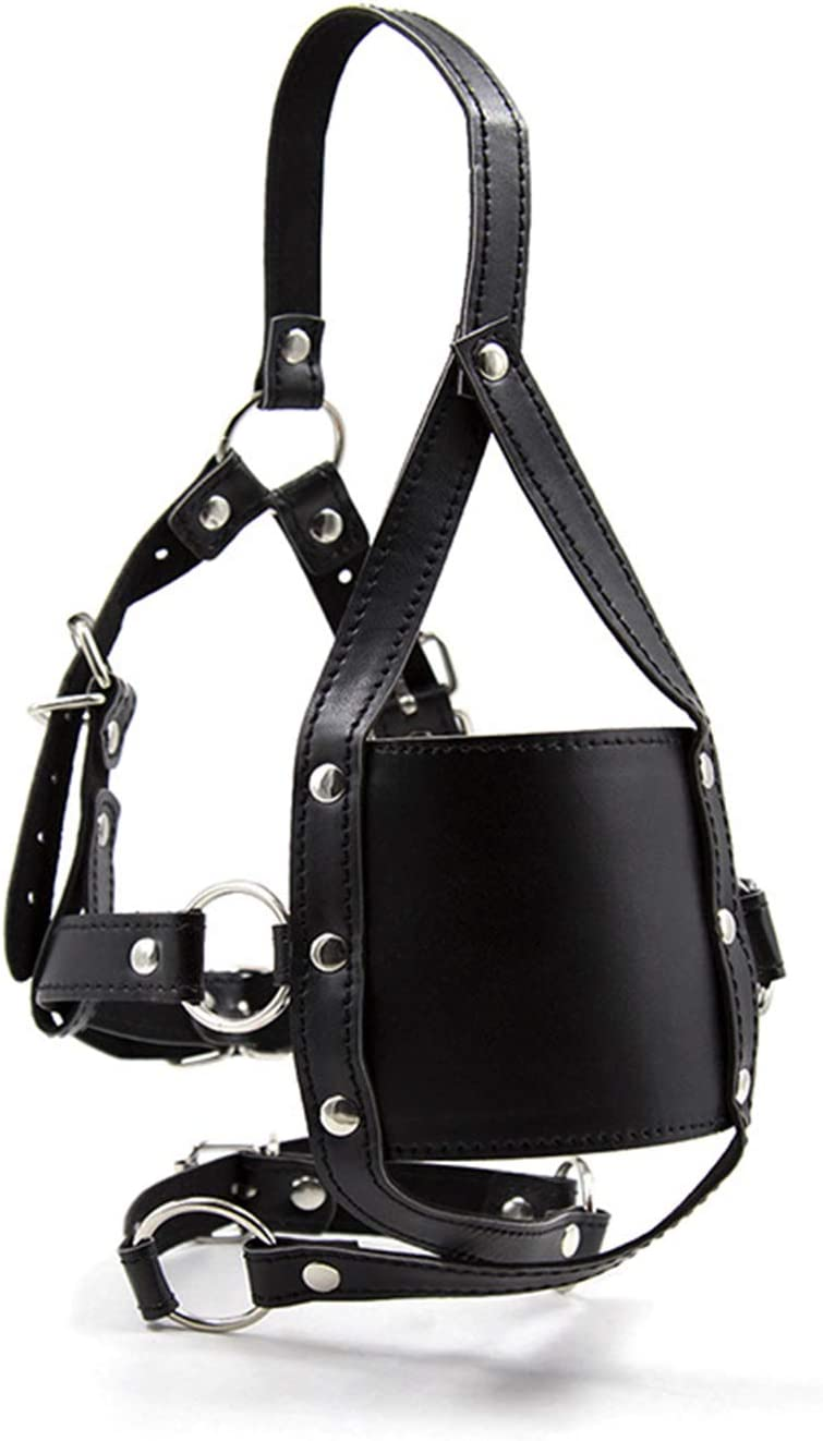 Soft and Super-cheap specialty shop Smooth Mouth Mask Leather Integrated Strap-on Head