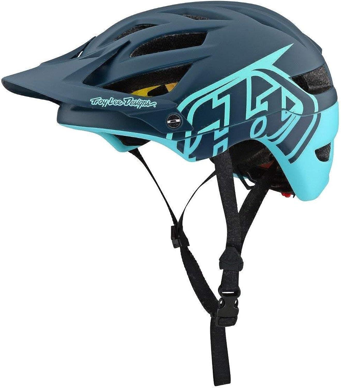 Troy Lee Designs A1 AS MIPS Bike Helmet Classic Dark Grey Aqua