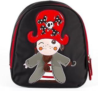 Mochila Infantil The Pirates Boy Niño | Mochila Infantil para Guardar Comida, para Guardería y Viajes, Color Negro, 23 x 11 x 25 cm