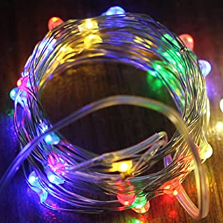 MIS1950s 100 LEDs String Fairy Lights,Flexible Copper Wire Decorative Lights for Glowing Watering Can with Light, Waterproof for Outdoor Decoration