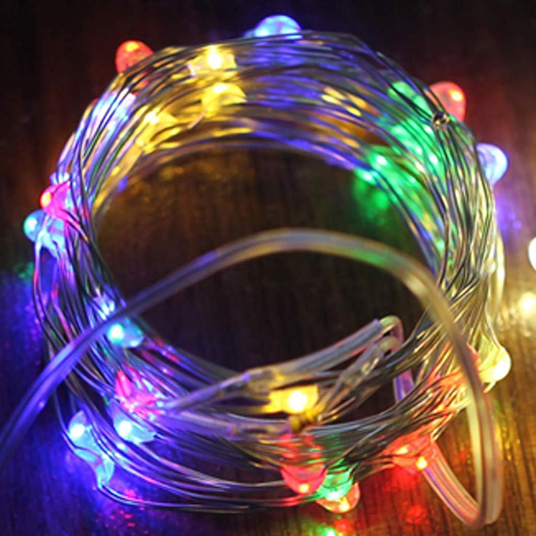クリックブランデーアジア人Oyedens LED ストリングスライト イルミネーションライト 電池式 led 100灯 全長2m (RGB色) ガーデンライト 正月飾り クリスマス 飾り ストリングライト 防水/防塵仕様 屋外/室内に適用 クリスマス用ライト (電池別売 )