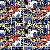DC Comics Batman Color Pop Comics Premium Quality 100% Cotton Fabric by The Yard.