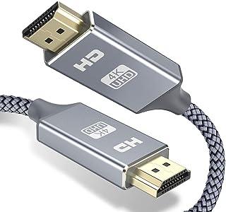HDMI ケーブル 4k 60hz 2m hdmi 2.0規格 HDR/3D/18Gbps 高速イーサネット対応 パソコンの画面をテレビに映す Apple TV,Fire TV Stick,PS4/3,Xbox, Nintendo Switch...