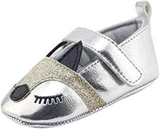 Weixinbuy Baby Girls' Crib Shoes Mary Jane Flats