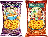 Hawaiian Onion Rings Variety Bundle: (1) Sweet Maui Onion Rings 4oz, (1) Luau BBQ Onion Rings 4oz (2 Pack Total)