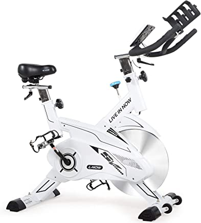 L NOW Indoor Cycling Bike Stationary Exercise Bike Trainer Belt Drive and Sturdy