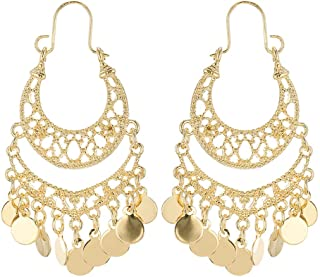 Black and Gold Chandelier Earrings  Gifts for her