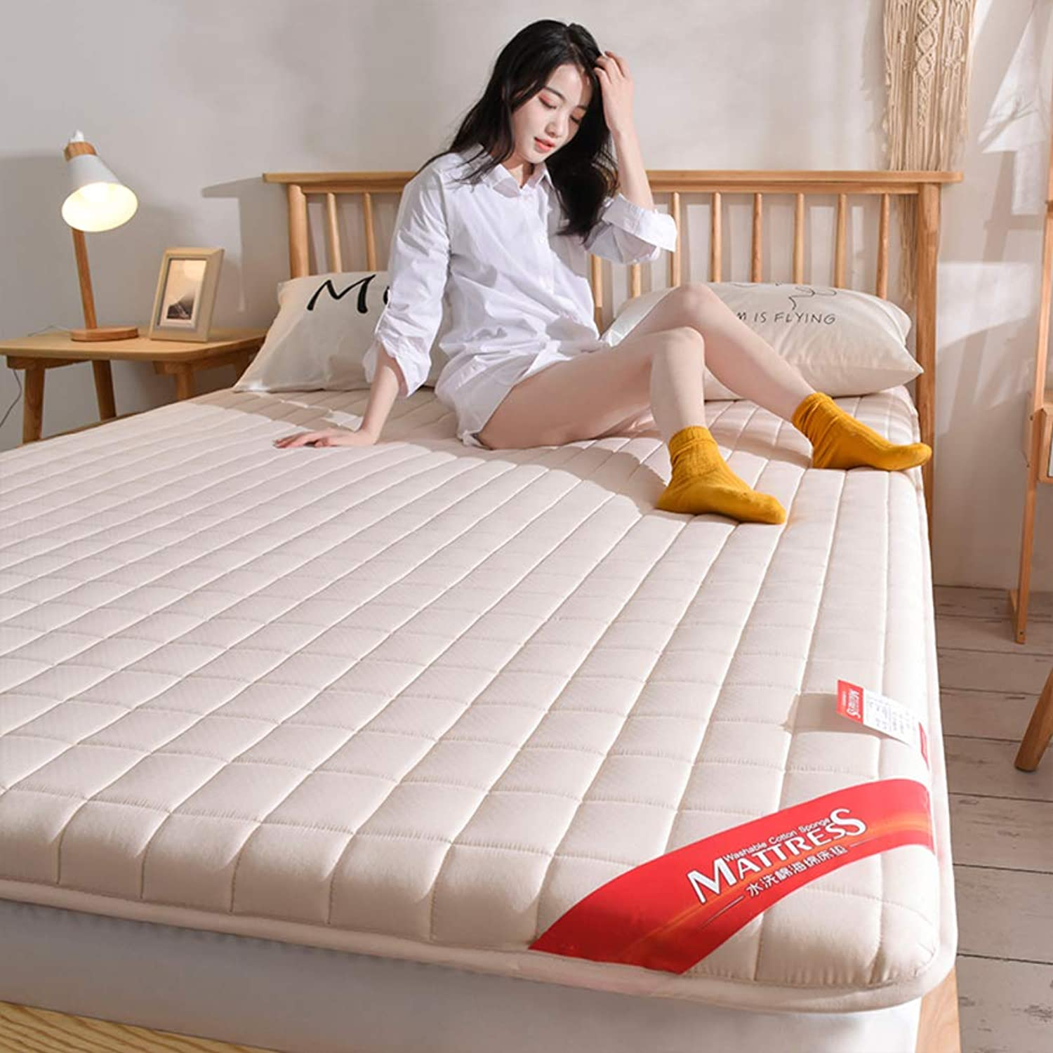 Breathable Sleeping Mattress Topper Mat, Soft Ergonomics Tatami Futon Floor Mat Pad Japanese Bed Roll for Student Dormitory -b Twin