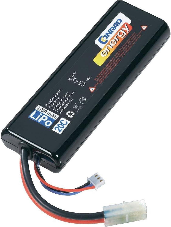 estilo clásico Conrad 209056 batería batería batería reCochegable - Batería Pila reCochegable (polímero de litio, RC model, Negro)  el mas de moda