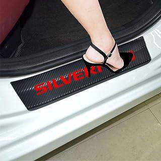 Car Entry Guard Sticker for Chevrolet Silverado Decoration Scuff Plate Carbon Fibre Vinyl Sticker Car Styling Accessories ...