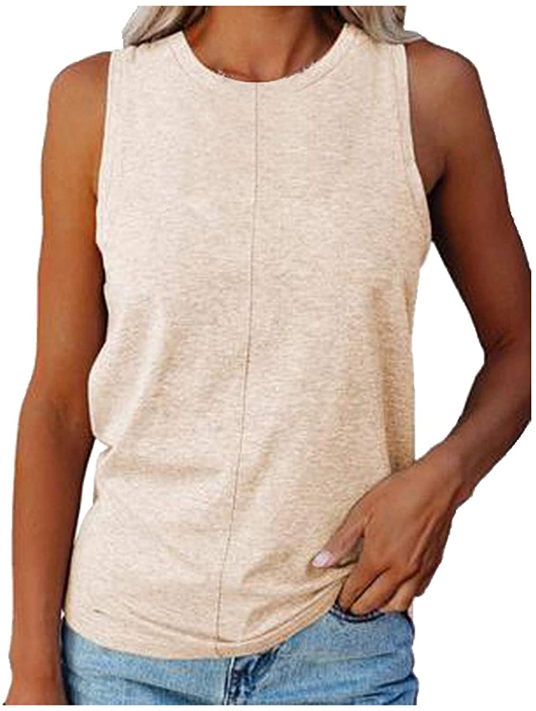 Masbird Women Tank Tops,Womens Cute Printed Vest Tshirt Sleeveless Workout Blouse Casual Summer Tank Top Tunic Tee