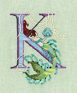 Letters From Mermaids-K Cross Stitch Chart