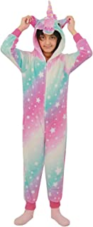 Kids Girls Unicorn A2Z Onesie One Piece Pink Extra Soft Stars Print Xmas Costume