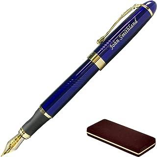 blue fountain pens