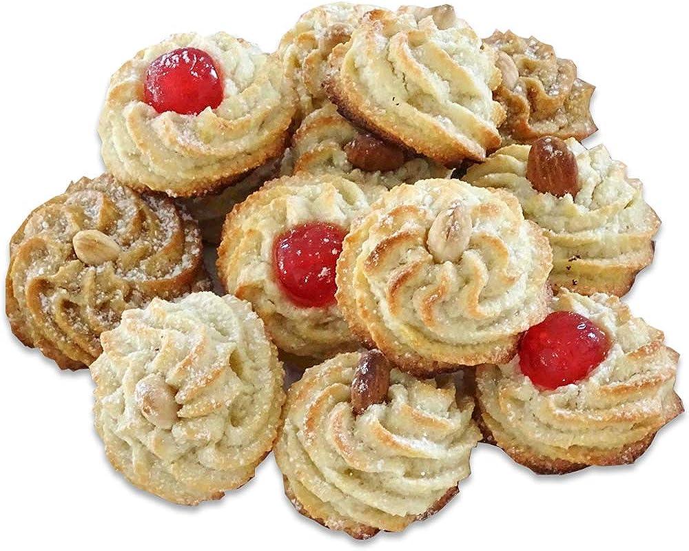 Pasta di mandorle SICILIANE,biscotti alta qualità artigianale, fatti a mano, 1 kg,40 pezzi