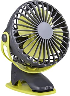 USB Fan, 4000mAh Rechargeable Battery Operated Clip Portable Personal Fan, with 360° Rotation Desk Fan, for Baby Stroller,...