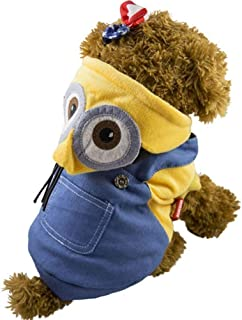 S-BBGPET Despicable Me Minion Pet Costume Clothes for Small Medium Large Dogs Winter Coat Warm Clothes
