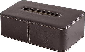 Deksel van tissuedoos Lederen tissue box houder gezichtsbehuizing servet dispenser for thuis kantoor automobieldecoratie T...