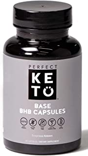 Perfect Keto BHB Capsules Exogenous Boost Pills for Ketogenic Diet Best to Support Weight Management & Energy, Focus and Ketosis Beta-Hydroxybutyrate BHB Salt Pills - 60 Servings