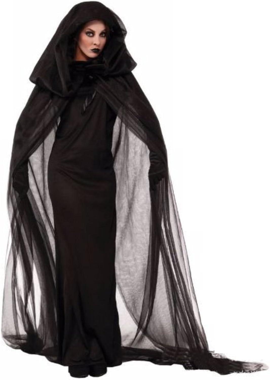 Stilvolle schwarze voller Länge Kleid Hexe Cosplay Halloween-Kostüm B01CSQRAL0  Mode-Muster     | Charakteristisch
