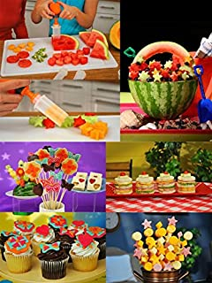 Fruit Shape Cutters Fruit And Vegetable Shape Cutter - 1Set Fruit Salad Carving Vegetable Fruit Arrangements Smoothie Cake Tools Kitchen Dining Bar Cooking Accessories - Fruit Vegetable Cutter