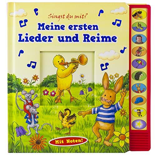 Meine ersten Lieder und Reime - Vorlese-Pappbilderbuch mit Sound