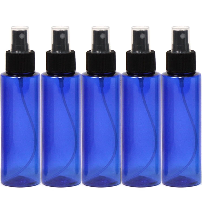 環境ワードローブダーツスプレーボトル100mLブルー黒ヘッド5本ストレートペットボトル遮光性青色おしゃれ容器bu100sbk5
