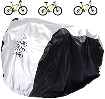 KOOOGEAR Bicycle Cover Waterproof with Storage Bag. Sunproof and Dustproof Outdoor Bicycle Cover for Mountain Bikes