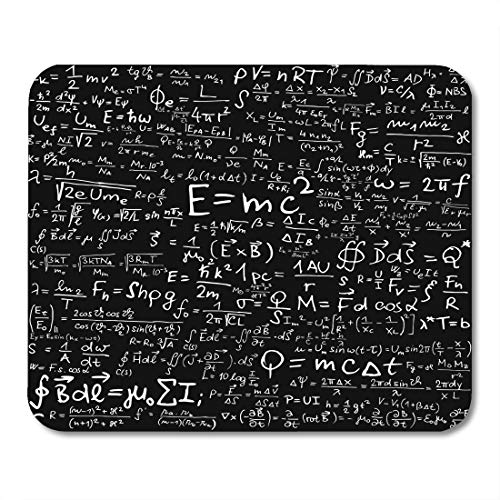 Emvency Mouse Pads Einstein Blackboard Physical Equations and Formulas Physics Theory Math Mousepad 9.5' x 7.9' for Laptop,Desktop Computers Accessories Mini Office Supplies Mouse Mats