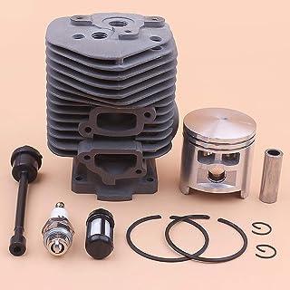 Tiempo Beixi 52mm Cilindro de Aros de pistón Circlip Kit Compatible con Stihl 050 051 Filtro de Combustible TS510 línea de Manguera Bujía Motosierra 1111 020 1200