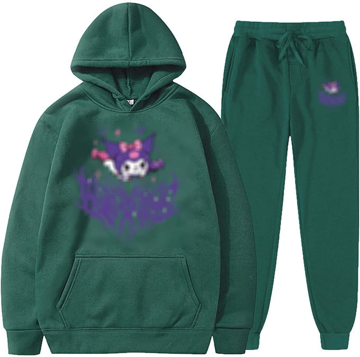 HUSHION Men's Sportswear Hooded Sweatshirt 2 To Piece Set Time sale Hoodie Award