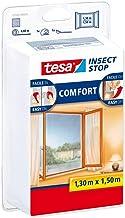 Tesa 55343 Insect Stop Muggennet Attacca & Stack Comfort voor ramen, zwart, 5 stuks