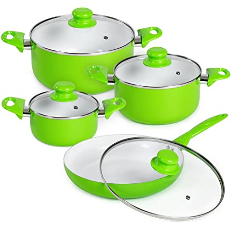 Brand New Swan SWPS3020GN Retro Vintage Style 3 Piece Saucepan Set With Lids