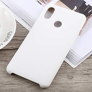 YUCHAO Xiaomi Mi Max 3用超薄型シリコン電話用保護ケース (色 : 白)
