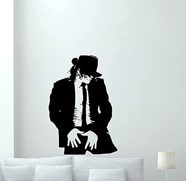 Michael Jackson Wall Decal Moonwalker Poster Print King Of Pop Music Poster Vinyl Sticker Kids Teen Boy Room Nursery Bedroom Wall Art Decor Mural 721QQ