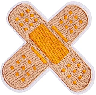U-Sky Sew or Iron on Patches - Cute Band Aid Patch for Kids Clothing, Biker Jackets, Jeans, Backpacks - Pack of 1PC - Size: 2.6x2.6 inch