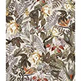 RoomMates Tropical Flowers Beige Peel and Stick Wallpaper | Removable Wallpaper | Self Adhesive...