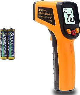 KETOTEK Laser termometer pistol infraröd termometer digital kontaktfri mattermometer -50 ℃ - 600 ℃ (-50 - 152 °F) IR-termo...