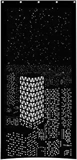 Smallrabbit Curtains City Sences Hollow Out Cutout Window Curtains Blackout Darkening Window Treatment for Kids/Women/Girls Bedroom Home Decor