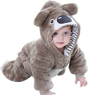 Koala Bear Costume Baby Boys Girls Bear Hoodie Flannel Jumpsuit