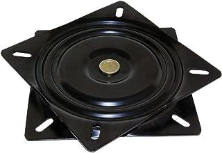 Emuca 3196514 Swivel platform/Rotating base of 360° for cabinet/TV screen, steel, black