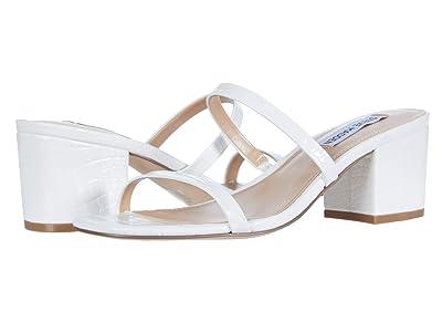 Steve Madden Issy Heeled Sandal (White Croco) Women