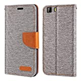 Doogee X5 Case, Oxford Leather Wallet Case with Soft TPU