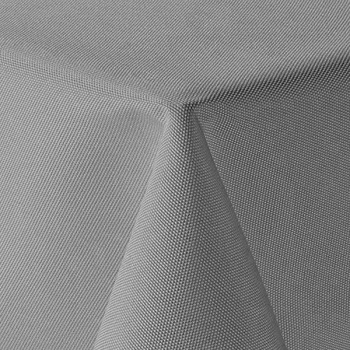 Leinen Optik Tischdecke Eckig 110x180 cm Hellgrau · Eckig Farbe & Größe wählbar mit Lotus Effekt - Wasserabweisend
