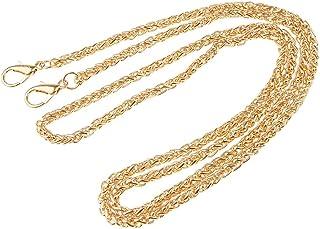 Dolity Ladies Retro Metal Purse Twist Chain Strap Shoulder Handle Crossbody Bag Handbag Replacement Accessory 120cm